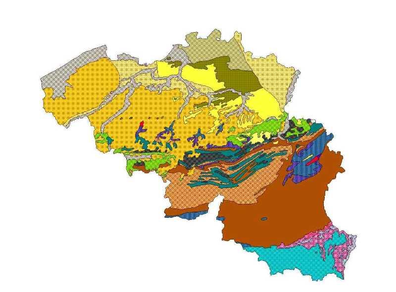 Carte Belgique Communautes Et Regions.Cmpb Cartes Geologiques De Belgique