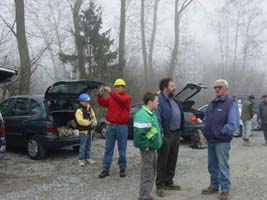 -The group in the foggy morning (27-03-2004)